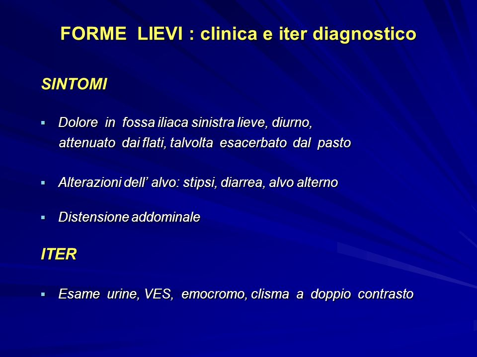 FORME LIEVI : clinica e iter diagnostico