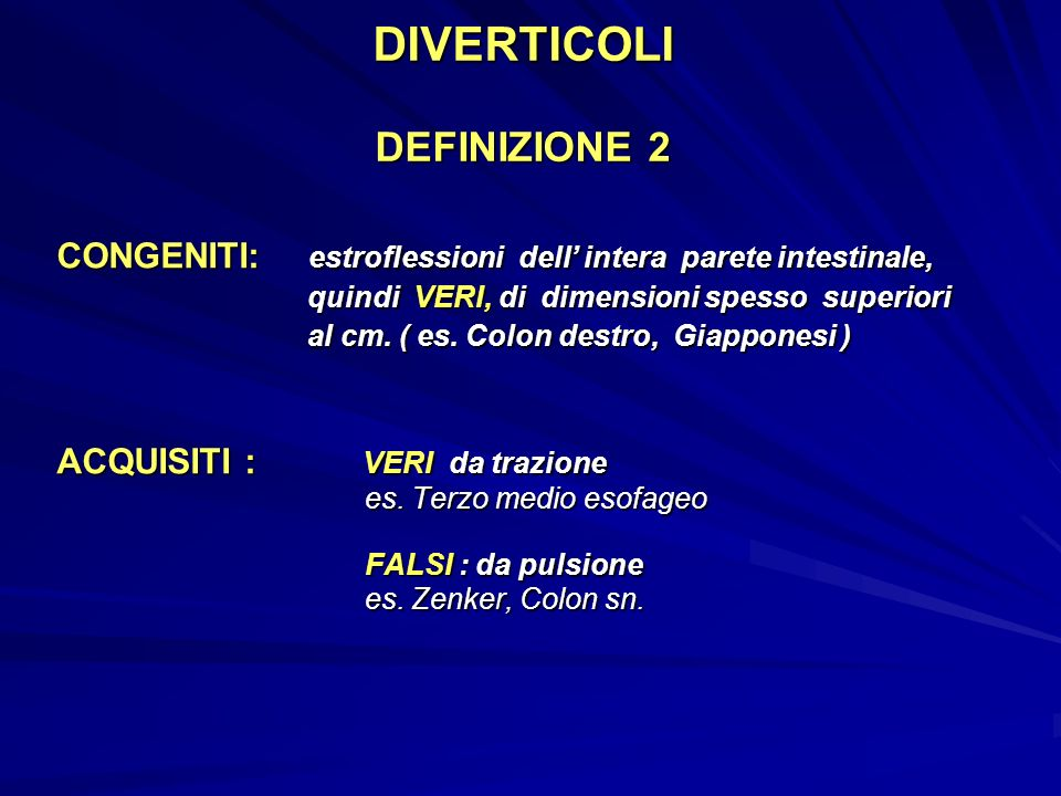 DIVERTICOLI DEFINIZIONE 2