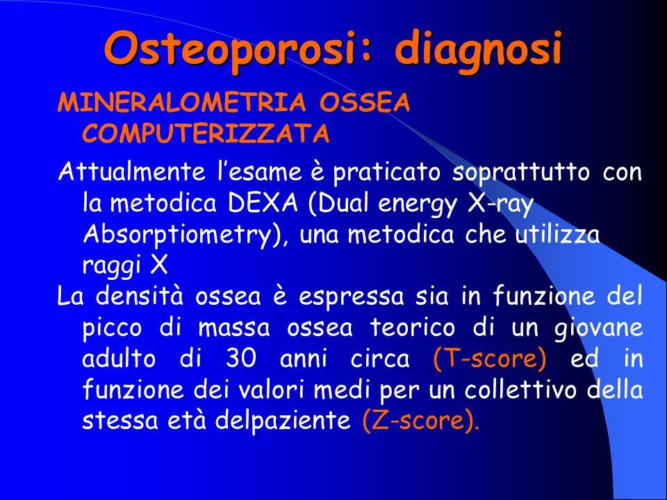 Osteoporosi: diagnosi