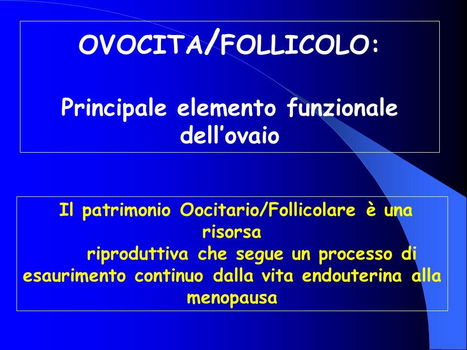 OVOCITA/FOLLICOLO: Principale elemento funzionale dell'ovaio