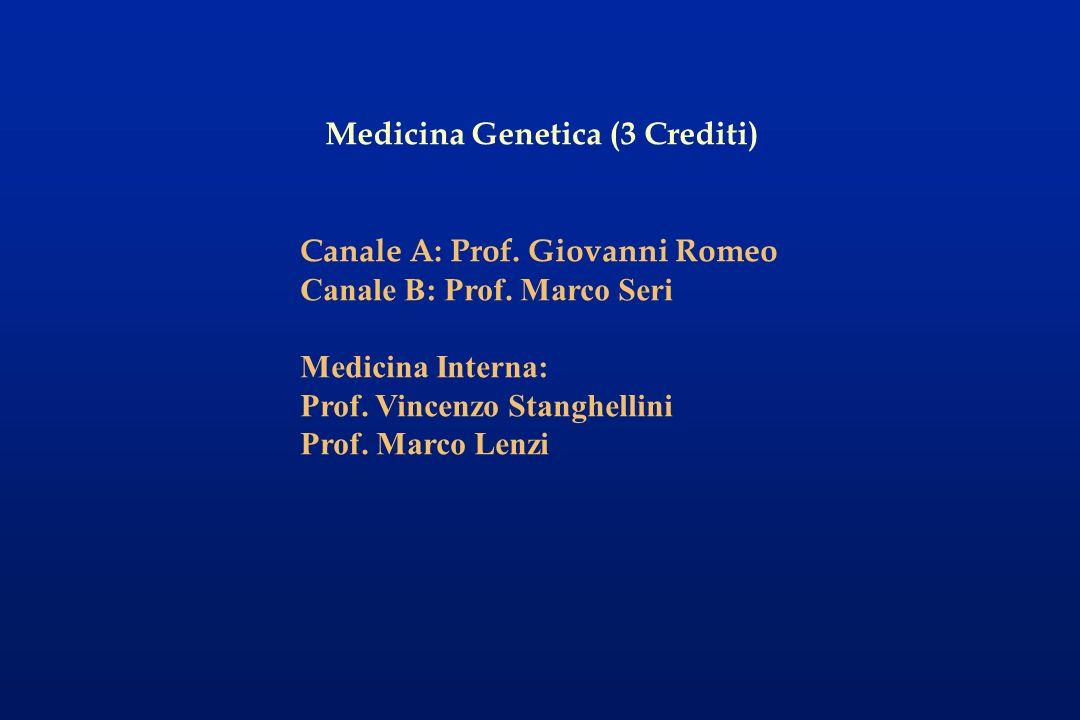 Medicina Genetica (3 Crediti)
