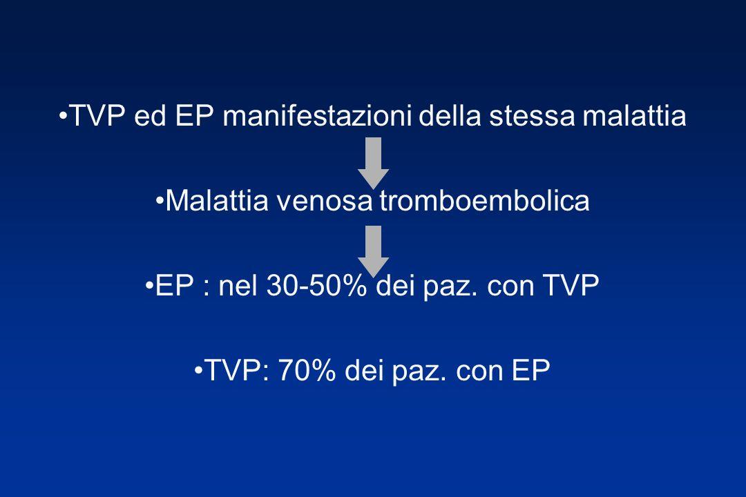 TVP ed EP manifestazioni della stessa malattia