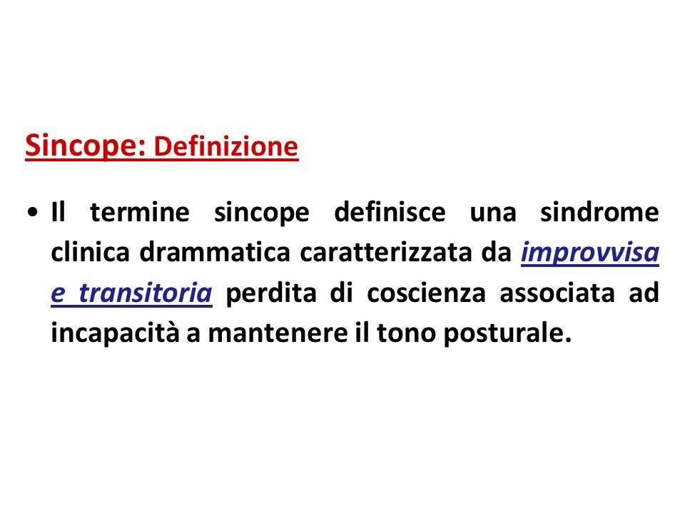 Sincope: Definizione
