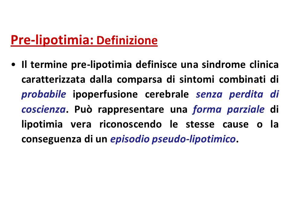 Pre-lipotimia: Definizione
