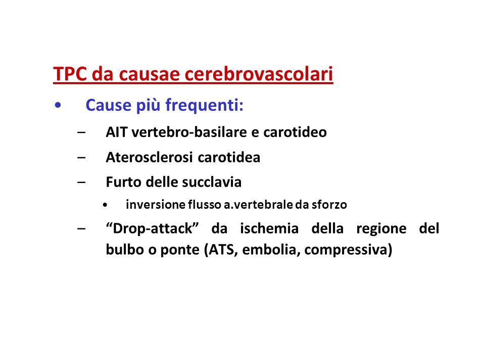 TPC da causae cerebrovascolari