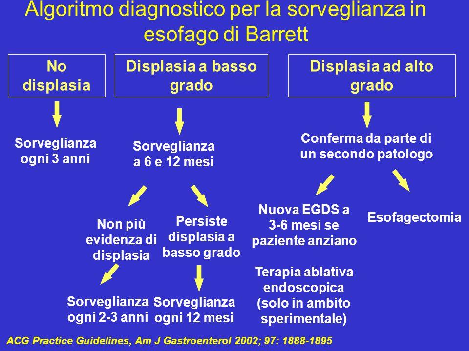 Algoritmo diagnostico per la sorveglianza in esofago di Barrett