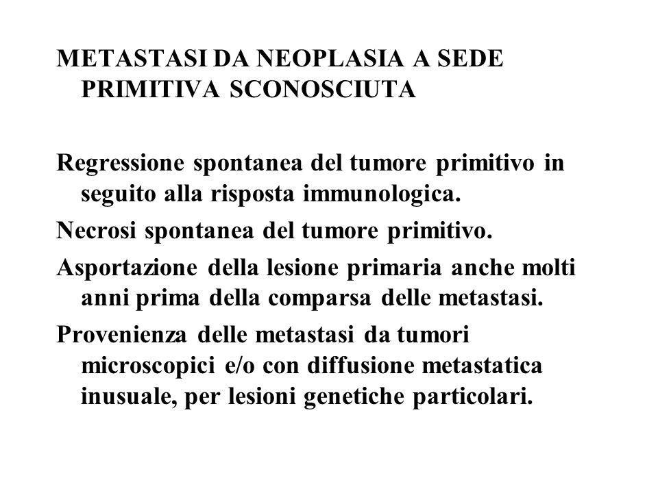 METASTASI DA NEOPLASIA A SEDE PRIMITIVA SCONOSCIUTA