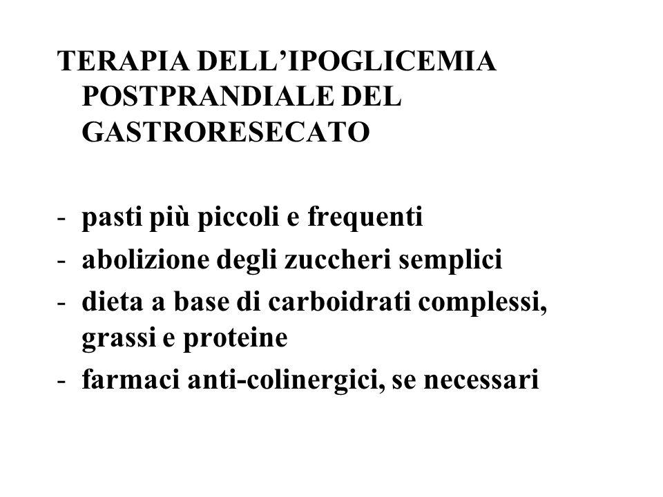 TERAPIA DELL'IPOGLICEMIA POSTPRANDIALE DEL GASTRORESECATO