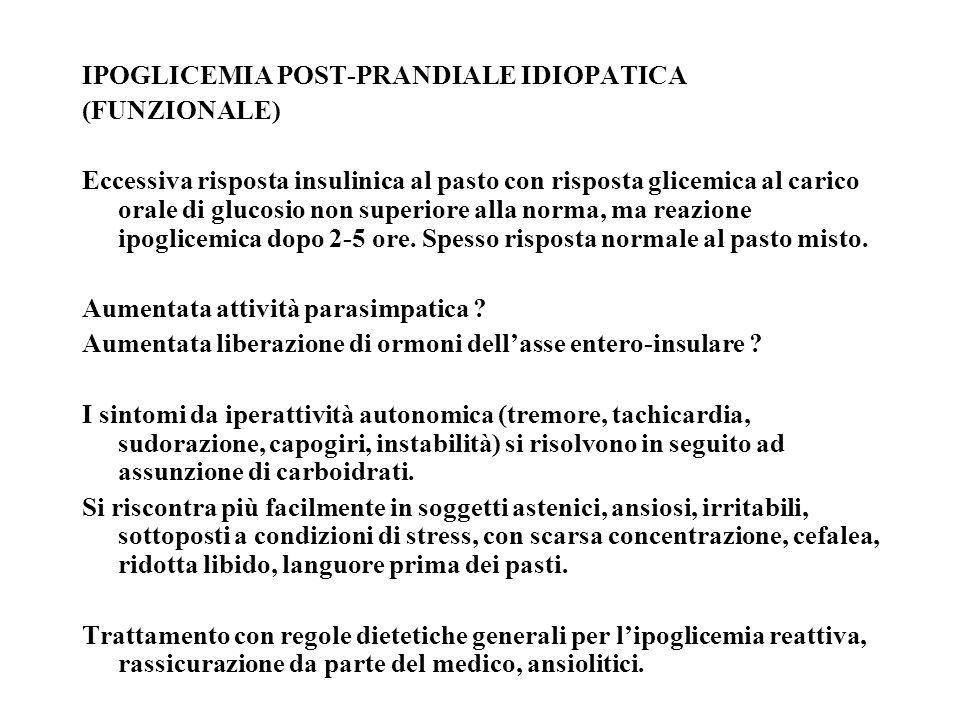 IPOGLICEMIA POST-PRANDIALE IDIOPATICA