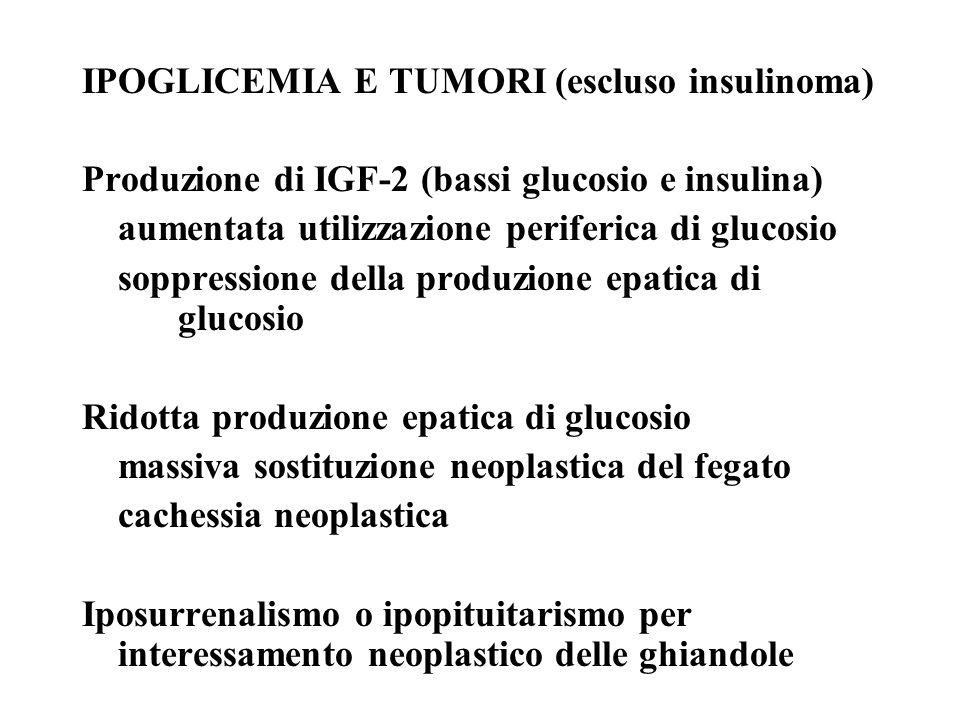 IPOGLICEMIA E TUMORI (escluso insulinoma)