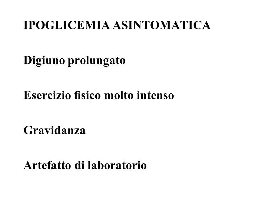 IPOGLICEMIA ASINTOMATICA