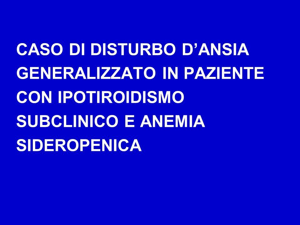 CASO DI DISTURBO D'ANSIA