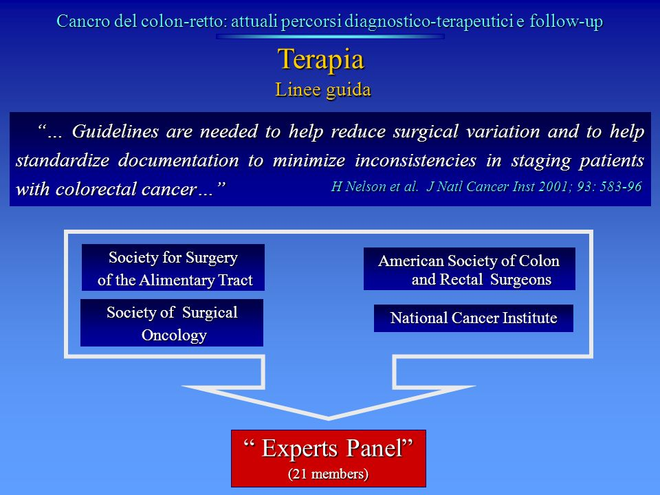 Terapia Experts Panel Linee guida