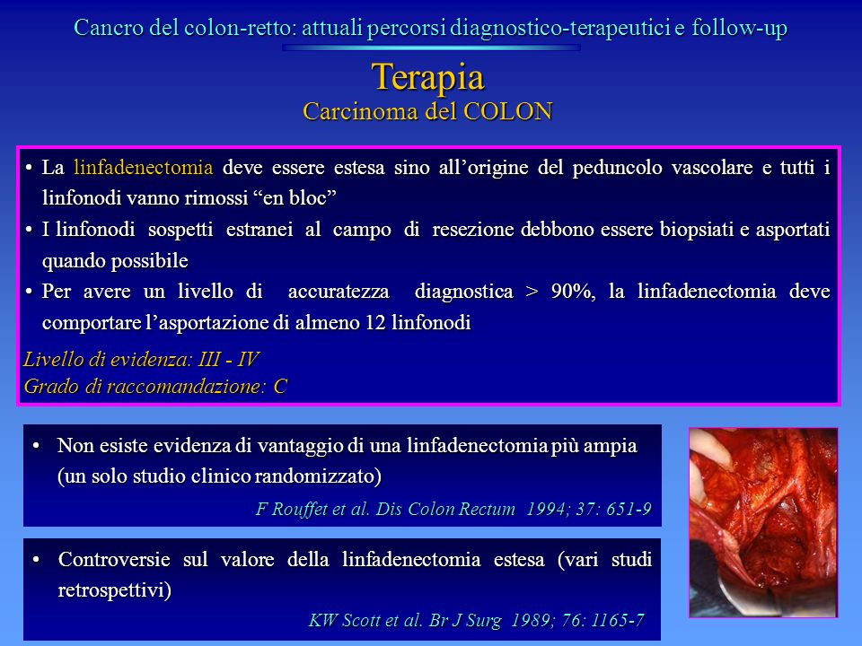 Terapia Carcinoma del COLON