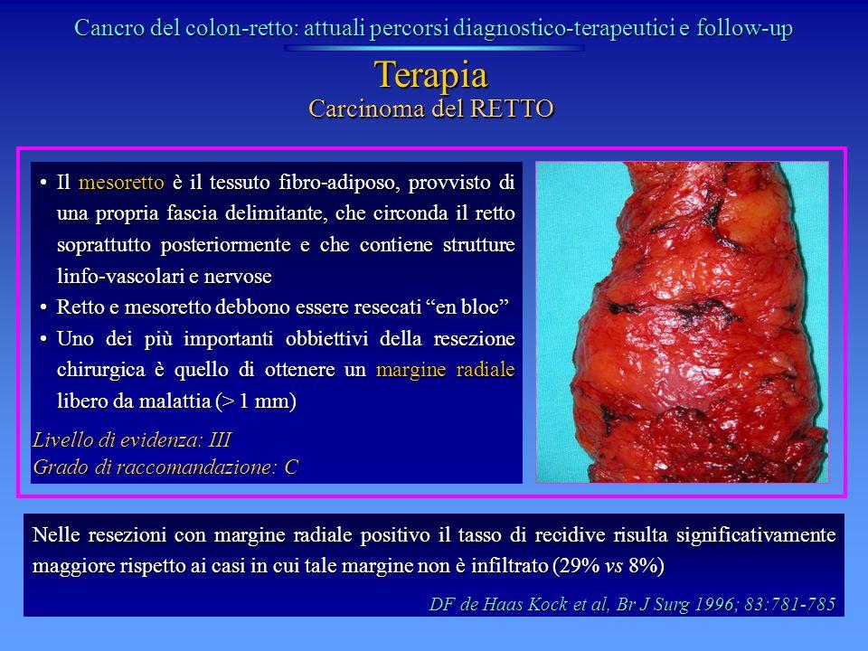 Terapia Carcinoma del RETTO