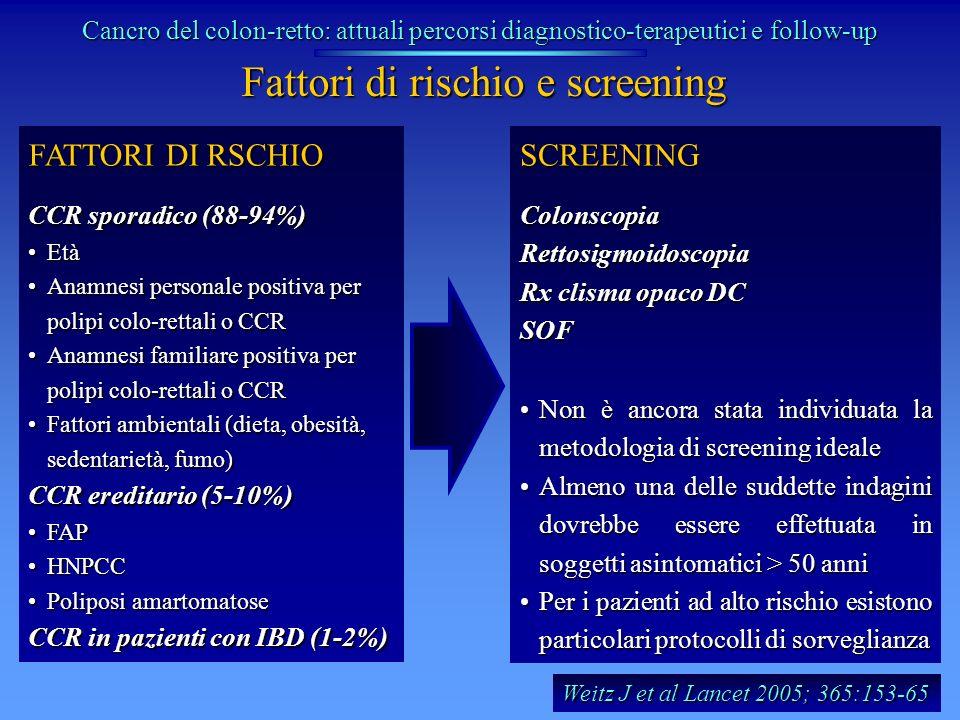 Fattori di rischio e screening