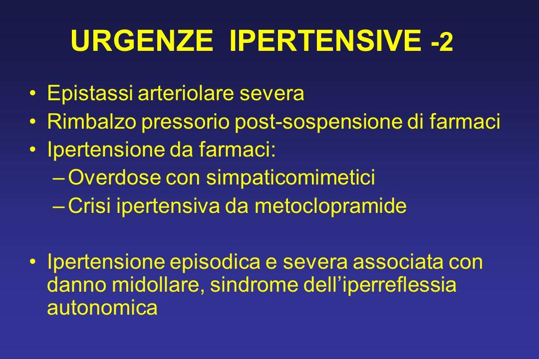 URGENZE IPERTENSIVE -2 Epistassi arteriolare severa