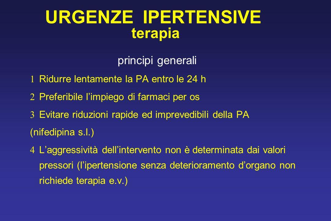 URGENZE IPERTENSIVE terapia principi generali