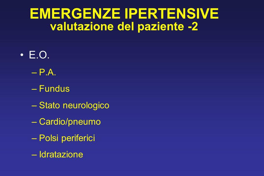EMERGENZE IPERTENSIVE valutazione del paziente -2