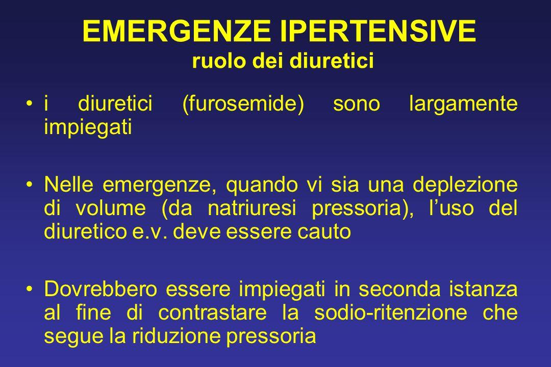 EMERGENZE IPERTENSIVE ruolo dei diuretici