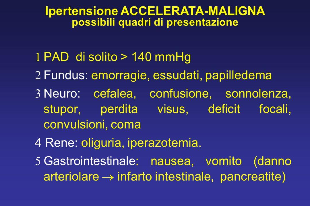 Ipertensione ACCELERATA-MALIGNA possibili quadri di presentazione