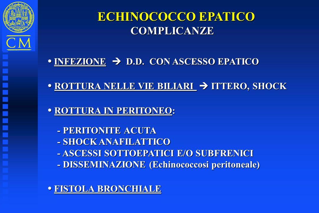 ECHINOCOCCO EPATICO COMPLICANZE • INFEZIONE  D.D. CON ASCESSO EPATICO