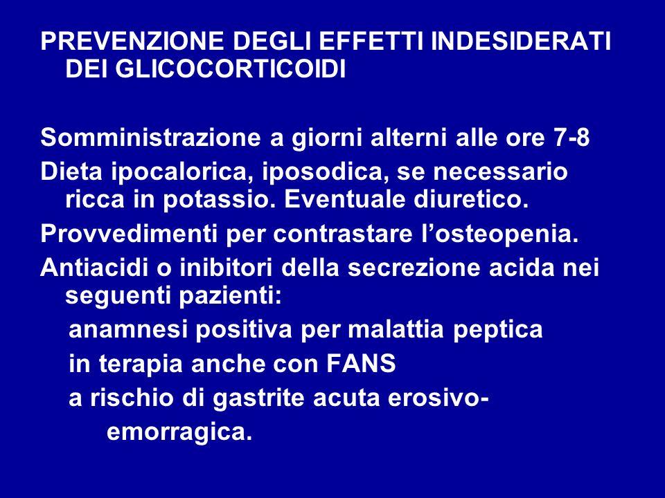 PREVENZIONE DEGLI EFFETTI INDESIDERATI DEI GLICOCORTICOIDI