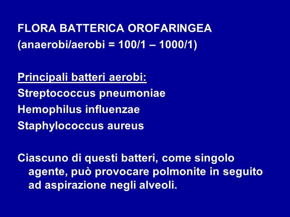 FLORA BATTERICA OROFARINGEA