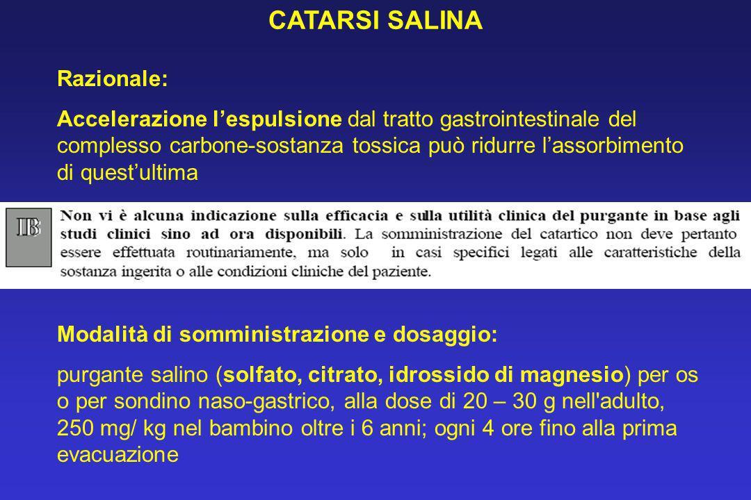 CATARSI SALINA Razionale: