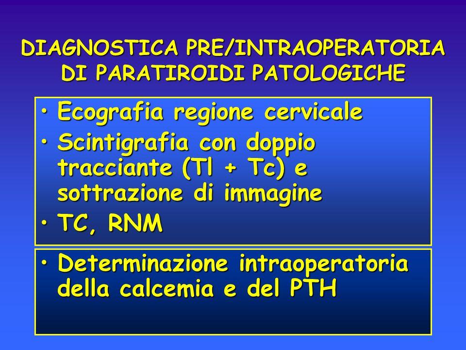 DIAGNOSTICA PRE/INTRAOPERATORIA DI PARATIROIDI PATOLOGICHE