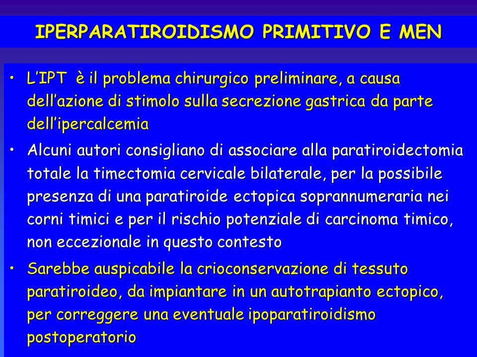 IPERPARATIROIDISMO PRIMITIVO E MEN