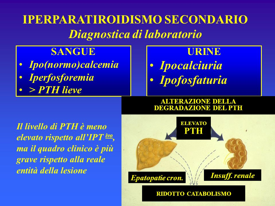 IPERPARATIROIDISMO SECONDARIO Diagnostica di laboratorio