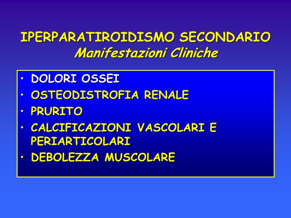 IPERPARATIROIDISMO SECONDARIO Manifestazioni Cliniche