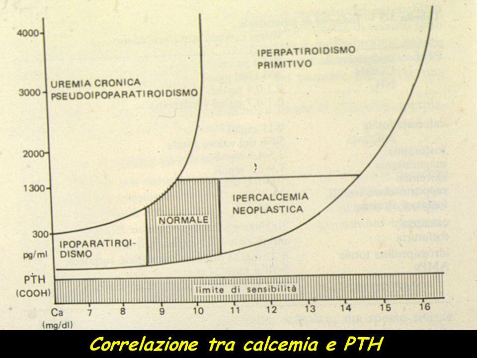 Correlazione tra calcemia e PTH