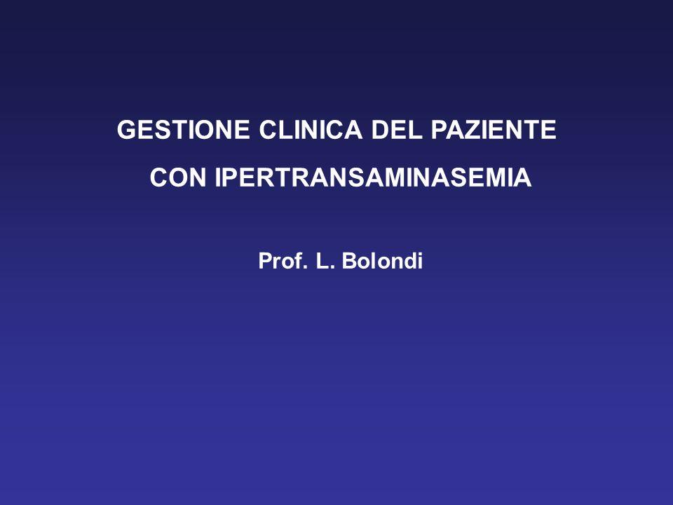 GESTIONE CLINICA DEL PAZIENTE CON IPERTRANSAMINASEMIA