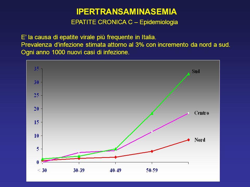 IPERTRANSAMINASEMIA EPATITE CRONICA C – Epidemiologia