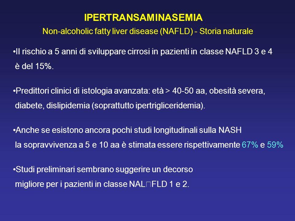 IPERTRANSAMINASEMIA Non-alcoholic fatty liver disease (NAFLD) - Storia naturale.