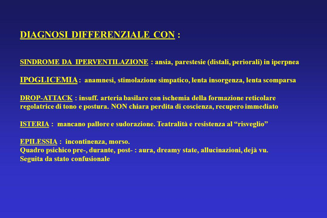 DIAGNOSI DIFFERENZIALE CON :