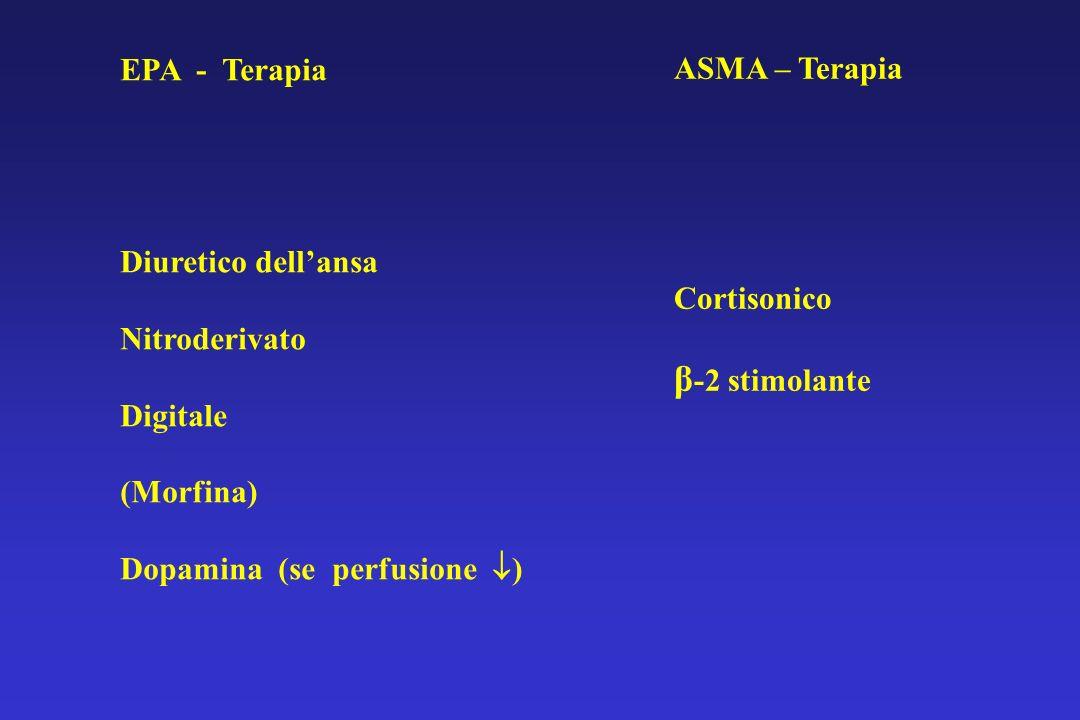 β-2 stimolante EPA - Terapia ASMA – Terapia Diuretico dell'ansa