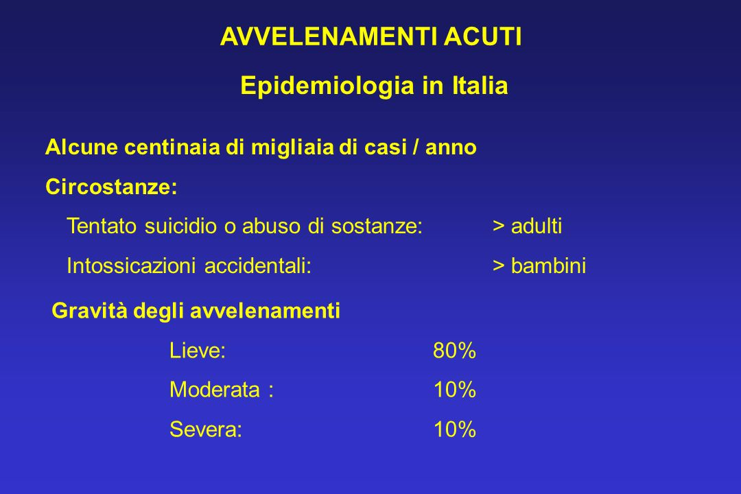 Epidemiologia in Italia