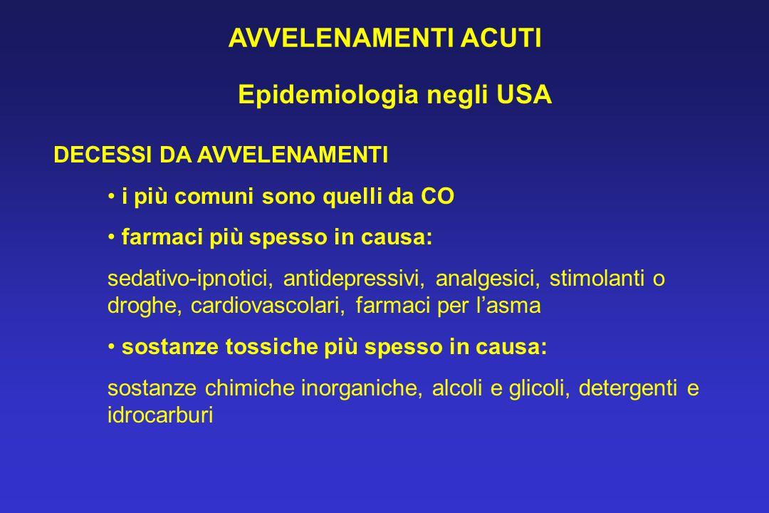 Epidemiologia negli USA