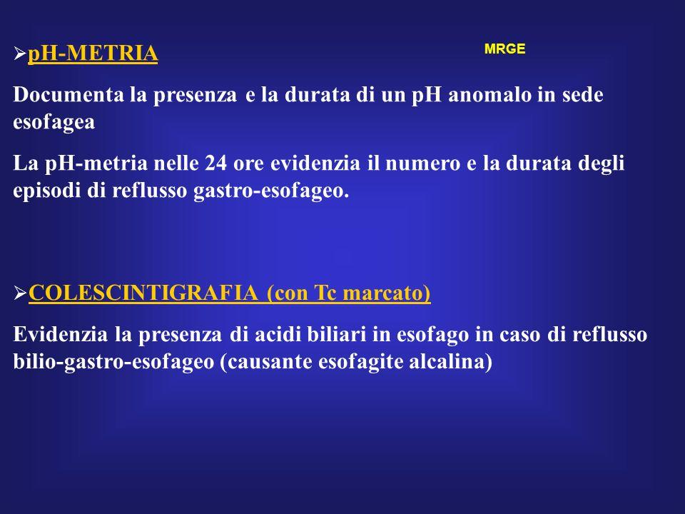 Documenta la presenza e la durata di un pH anomalo in sede esofagea