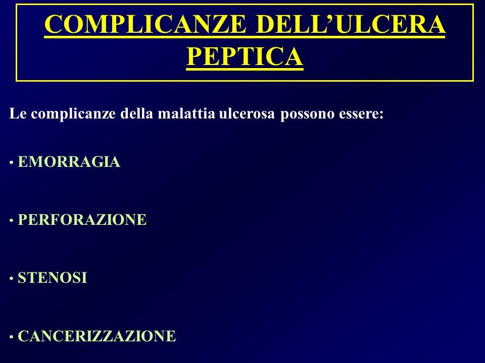 COMPLICANZE DELL'ULCERA PEPTICA