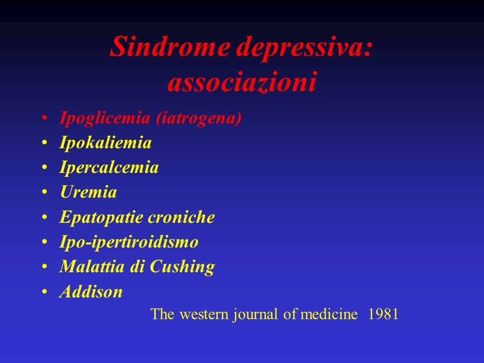 Sindrome depressiva: associazioni