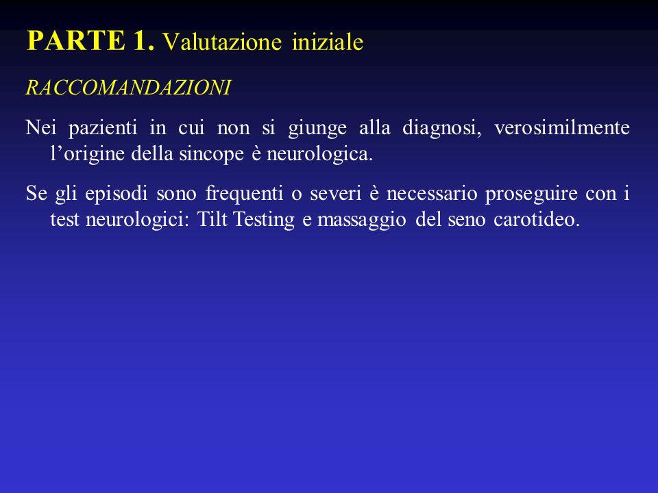 PARTE 1. Valutazione iniziale