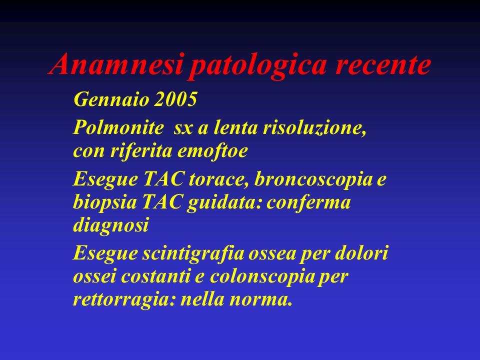 Anamnesi patologica recente