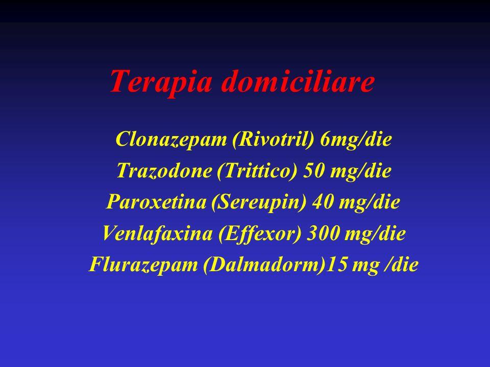 Terapia domiciliare Clonazepam (Rivotril) 6mg/die