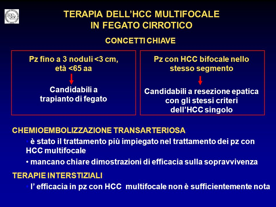 TERAPIA DELL'HCC MULTIFOCALE IN FEGATO CIRROTICO