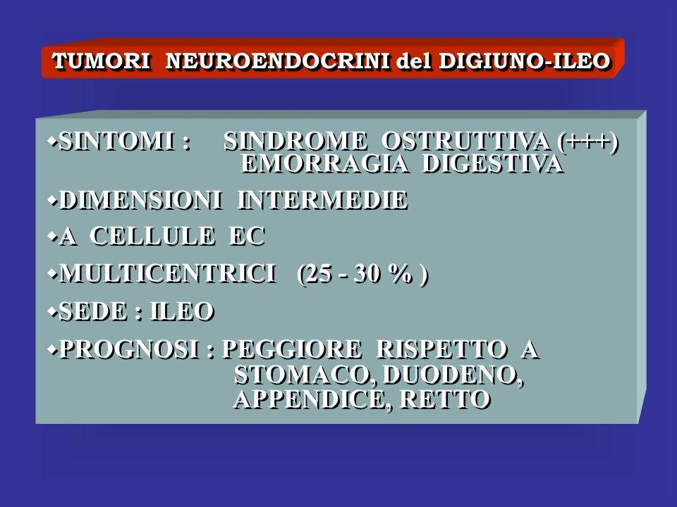 TUMORI NEUROENDOCRINI del DIGIUNO-ILEO