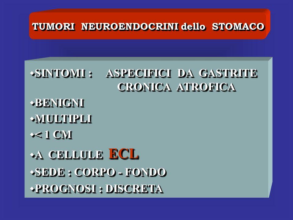 TUMORI NEUROENDOCRINI dello STOMACO